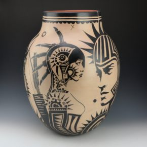 "Ortiz, Virgil – ""Pueblo Revolt 1680:2180"" Storage Jar"