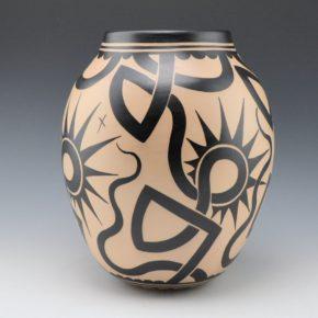 Ortiz, Virgil – Jar with Wildflower and Tattoo Designs