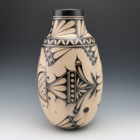 Ortiz, Virgil – Tall Traditional Jar with Cloud Designs