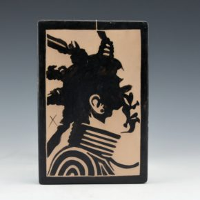 "Ortiz, Virgil – ""Pueblo Revlot Warrior: 2180"" Tile"