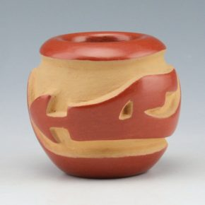 Suazo, Anita – Carved Bowl with Avanyu (1979)