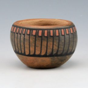 Blue Corn – Polychrome Bowl with Feather Pattern (1972)