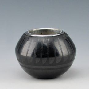 Blue Corn –  Feather Bowl with Lighter Inset