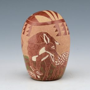 Tafoya, Camilio – Seedpot with Deer Family (1985)