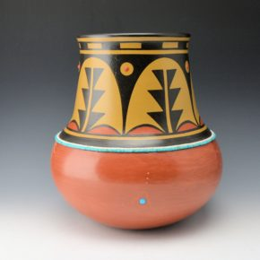 Gonzales, Cavan  – Polychrome Water Jar with Plant Designs