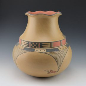 Gonzales, Cavan  – Polychrome Double Shoulder Water Jar