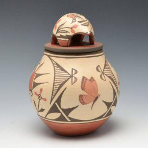 Medina, Elizabeth & Marcellus – Jar with Butterflies, Bird & Lid