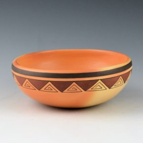 Sahneyha, Madeline – Open Bowl with Mountain Design (1990's)