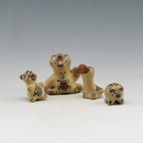 Gutierrez, Margaret & Luther – Raccoon, Bear, Duck, Pig Figures (1970's)