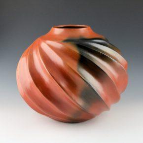 Manymules, Samuel  – Large Melon Jar with Sharp Swirls