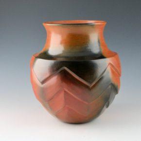 Manymules, Samuel  – Jar with Impressed Rug Design
