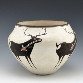 Lewis, Lucy – Jar with Heartline Deer (1970's)