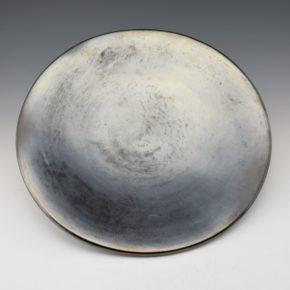 Martinez, Maria – Plainware Gunmetal Fired Plate (1930's)
