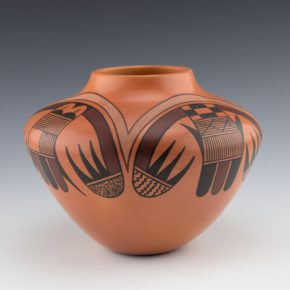 "Tahbo, Mark  – ""Feathers and Bat Wings"" Jar"