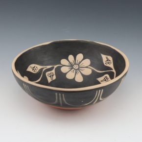 Tenorio, Robert  – Open Bowl with Flowers (1980)