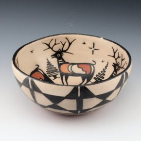 Tenorio, Robert  – Open Bowl with Four Deer