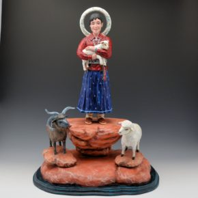 """Arthur Lopez – """"Saint Inez del Campo"""" Santos Wood Carving"""