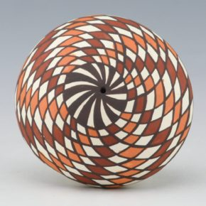 Lewis-Garcia, Diane – Seedpot with Polychrome Spiral