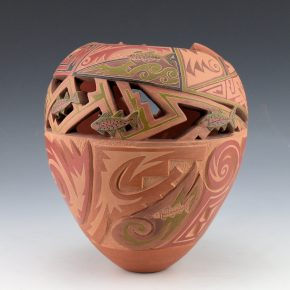 Medicine Flower, Grace – Polychrome Jar with Fish