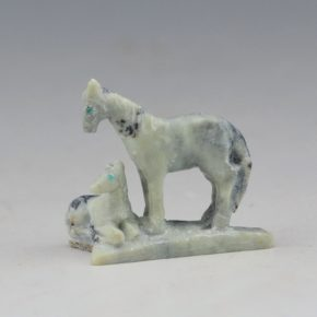Pincion, Herbert – Horse & Sitting Foal Carving