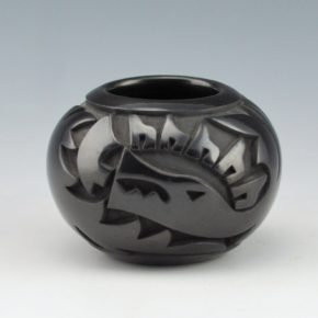 Year Flower, Lucy – Bowl with Carved Avanyu (1982)