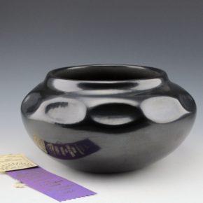 "Tafoya, Margaret – Large ""Gourd"" Jar (1974) with Ribbon"