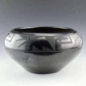 Martinez, Maria – Large Bowl with Lightning and Wind Designs (1920's)