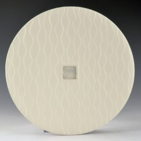 Duwyenie, Preston – White Narrow Shifting Sands Plate with Silver