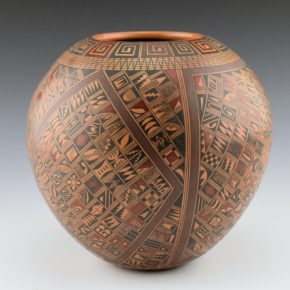 Huma, Rondina – Bowl with Geometric Pottery Shard Patterns