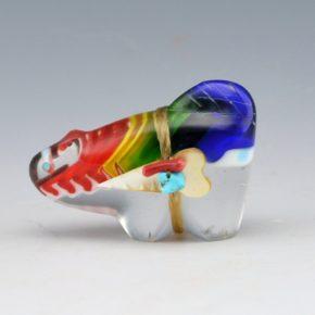 Quam, Daphne – Mulit-color Glass Mountain Lion with Arrowhead Bundle