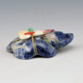 Quam, Daphne – Sodalite Badger with Arrowhead Bundle