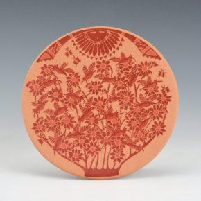 Duwyenie, Debra – Plate with 19 Hummingbirds