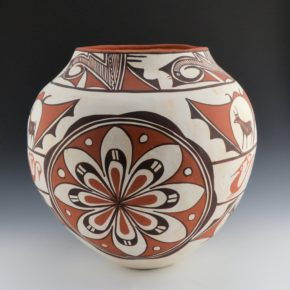 Laate, Jennie – Large Jar with Deer and Rosettes (1970's)