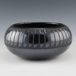 Martinez, Maria  – Wide Bowl with Feather Design (Maria + Santana, 1954-6)