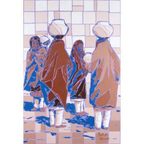 "Allison, Marla – ""Shawls and Pottery"" Original Acrylic"