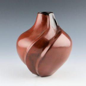 Johnson, Melissa – Jar with Carved Melon Swirl