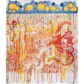 "Vigil, Phillip – ""Rain"" Original Acrylic on Canvas – 46″ X 55″"