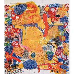 "Vigil, Phillip – ""Untitled No. 1″ Original Acrylic on Canvas – 61″ X 54"""