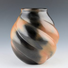 Manymules, Samuel  – Tan Melon Jar with Fire Clouds