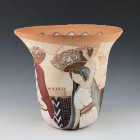 """Folwell, Susan – """"Corn Maidens"""" Jar"""