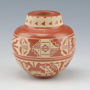 Curran, Ursula – Jar with Buff-on-Red Rain Designs