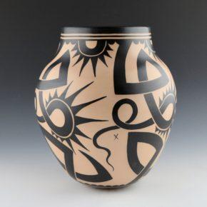 Ortiz, Virgil – Jar with Tattoo and Wildflower Designs