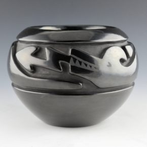 Tafoya, Betty – Bowl with Carved Avanyu (1980's)