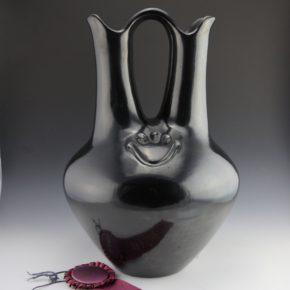 Tafoya, Margaret – Wedding Vase with Bear Paws & Ribbon (1972)