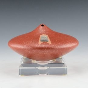 Duwyenie, Preston – Red Micaceous Shoulder Jar with Silver Inset