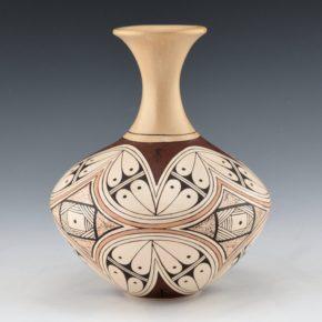 Naha, Rainy – Long Neck Vase with Flower Pattern