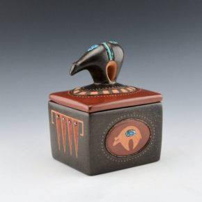 Sanchez, Russell  – Polychrome Box with Bear Lid