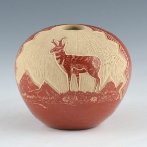 Youvella, Wallace – Seedpot with Antelope (1976-9)