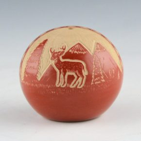 Youvella, Wallace – Seedpot with Deer (1976-9)