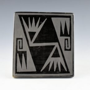 Blue Corn – Tile with Bird Wing Design (1960's)(4)
